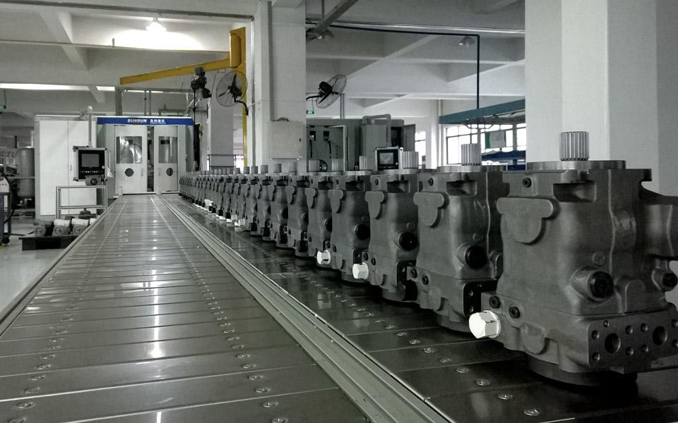 Sunbun – assemblaggio di pompe e motori